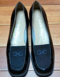 Salvatore Ferragamo Vintage Black Shoes Sz6